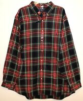 Polo Ralph Lauren Big & Tall Mens Red Blue Plaid Flannel Button-Up Shirt NWT 2XB