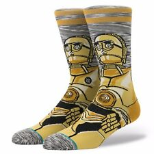 STANCE MENS STAR WARS SOCKS.C3PO C-3PO ANDROID LONG CREW SIZE LARGE UK 8.5-11.5