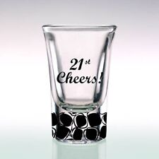 Hand Painted Shot Glass 21st Birthday Gift for Boyl   Present   Personalised