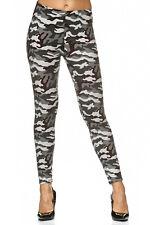 Camouflage Damen Leggings mit Tarn Muster Sport Leggins Tarnmuster Legging