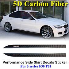 M Performance Side Skirt Stripe 5D Carbon Fiber Sticker for BMW 3 Series F30 F31