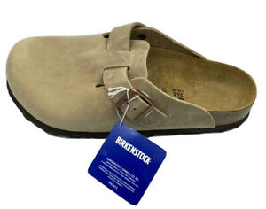 Birkenstock Boston unisex classic clog, Tobacco Brown leather, 41 EU M