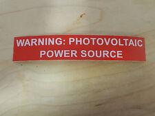 20 PV Solar Labels Vinyl UV Resistant Conduit Labels