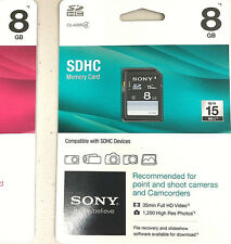 Sony 8GB SDHC Class 4 Memory Card, Or Sony MicroSDHC Memory Card 8 GB.(SR8A4).
