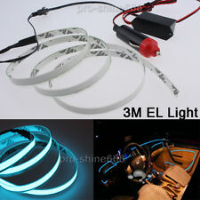 3M Ice Blue Interior Decorative LED Wire Atmosphere Cold Strip Light For Hummer
