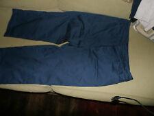 Classic Elements Petite COTTON Navy Blue Blue CAPRI Cropped Pants size 14