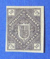 1875 ANDORRA SPANISH 10C UNISSUED STAMP SCOTT# - MICHEL #- UNUSED IMPERF CS25517