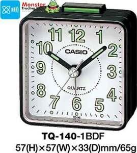 CASIO ALARM DESK CLOCK TQ-140-1BD TQ-140 TQ140 12 MONTH WARANTY