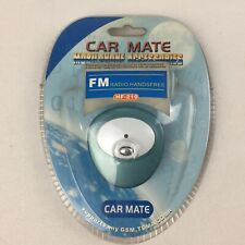 CAR MATE Mobile Phone FM Radio Handsfree Speaker Transmitter - Brand New, Blue