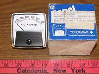 GE Yokogawa 250240LSSJ, 0-600 A-C Amperes Panel Meter
