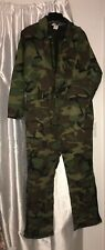 USA vtg Key Imperial Insulated Woodland Camo Coveralls mens X-Large Reg AWESOME