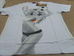 Genuine Ringspun Men's Football World Cup Germany T-Shirt, White