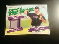 2018 Topps Pro Debut Fragments of the Farm Relic Tommy Doyle GREEN SP #d 9/99 RC