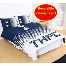 NEW TOTTENHAM HOTSPUR FADE DOUBLE DUVET QUILT COVER SET BOYS KIDS FOOTBALL BED