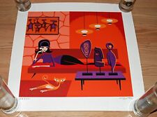 Josh Agle SHAG Art Print Poster The Idolator S/# 200 Signed Serigraph w/COA Cats