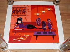 Josh Agle SHAG The Idolator S/# 200 Signed Serigraph Art Print Poster w/COA Cats