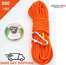 Fishing Magnet Kit Strong 880 Lbs Pull Force Neodymium With Rope And Carabiner