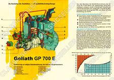 Goliath gp 700 e motor corte dibujo explosión dibujo póster cartel de imagen