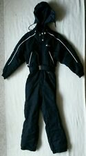 quality FERA,black one piece ski snow board suit,waterproof,insulated,womens 10