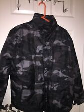New Army Camo Print Puffer Coat Jacket Small