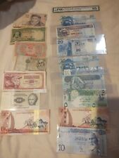 Foreign Paper Money Lot, 62 Pieces World Vintage Currency Collection