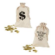Geldsack mit Dollarzeichen Bankräuber Sack 30x48 cm Stoffsack Räuber Geldbeutel