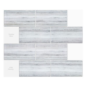 3D Tiles Stickers Peel and Stick DIY_Big Brick Wood_(30cm x 26cm x 5 sheets)