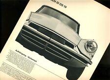CITROEN ID DS 19   / historischer SCHWEIZ er Reklamedruck aus dem Jahr 1962