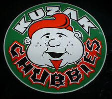 Vintage green Kuzak Chubbies aggressive inline skate wheel stickers & decals