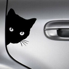 Cat Face Peering Funny Car Decal Window Truck Auto Bumper Body Sticker Black DIY