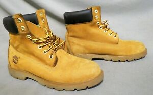 MENS TIMBERLAND TAN SUEDE HIKING FARM WORK BOOTS US SIZE 9.5 M