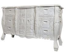 Wohnzimmer Kommode Barockkommode Sideboard Weiss Anrichte Antik Holz