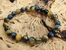 Natural Gemstone Men's STRETCHABLE bracelet 8mm TIGER EYE beads ELASTIC