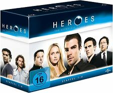 HEROES, Die komplette Serie (Staffel 1-4) 17 Blu-ray Discs NEU+OVP