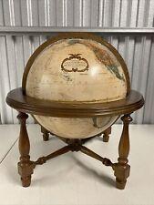 "Vintage REPLOGLE 12"" Globe World Classic Series Wood Base"