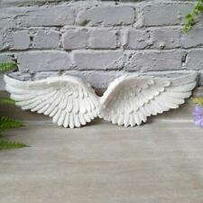 White Glitter Hanging Angel Wings Wall Art Home Decor