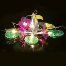 Lichterkette Tropical mit 10 Lichtern Tukan Blumen Blätter Partybeleuchtung - 2m