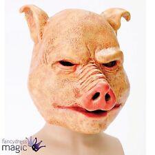 Adulte homme horreur cochon latex masque effrayant evil animal halloween costume robe fantaisie