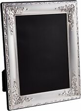 Sterling Silver Floral Design Photo Frame 3.5 x 2.5 inches (9cm x 6cm)