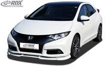 RDX Spoilerlippe für Honda Civic ab Bj. 2012 Frontspoiler Ansatz Schwert Spoiler