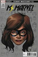 Ms. Marvel Comic  25 Cover D Headshot Legacy Mike McKone First Print 2018 Wilson