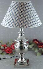 Vasenlampe Aluminium vernickelt Bodenlampe Tischlampe Stehlampe Leuchte Deko Neu