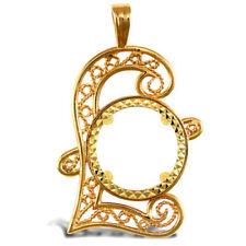 Collares y colgantes de joyería de metales preciosos sin piedras colgantes de monedas