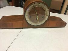 Vintage Hermle Wood Shelf Mantle Clock Germany Chime Sound w/ Key