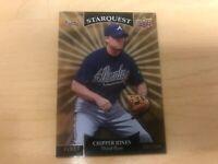 2009 Upper Deck Starquest Gold Rare #SQ-4 Chipper Jones card, Atlanta Braves HOF