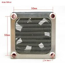 60mm Aluminum Dustproof Filter Dust Grill Guard For PC Cooling Fan Silver