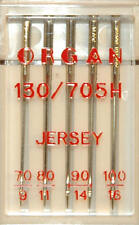 Organ Sewing Machine Needles Domestic Embroidery Industrial Brother Janome Etc Blb77 130/705h Jersey Mixed Packet of 5