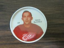 1960-61 Shirriff Salada plastic coin # 59 Parker McDonald (B23 Detroit Red Wings