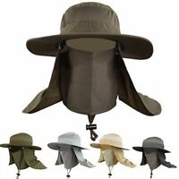 Sport Hat Cap Wide Brim Neck Hiking Fishing Flap Outdoor Sun Protection Hat