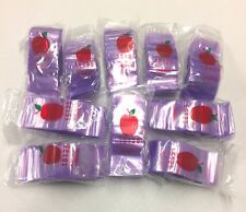 "Top Quality Bag 15125 1.5""X1.25"" 1000 Purple Color Apple Brand Reclosable Baggie"